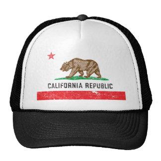 Bandeira de Califórnia do vintage Bonés