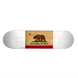 Bandeira de Califórnia Shape De Skate 18,4cm
