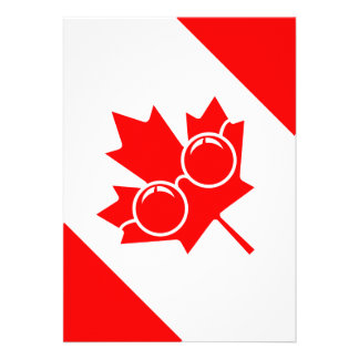 Bandeira de Canad com vidros no bordo Convites Personalizados