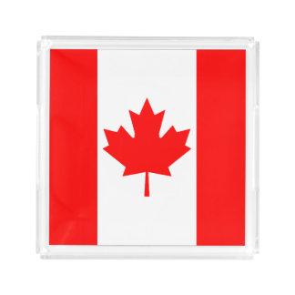 Bandeira de Canadá Bandeja De Acrílico