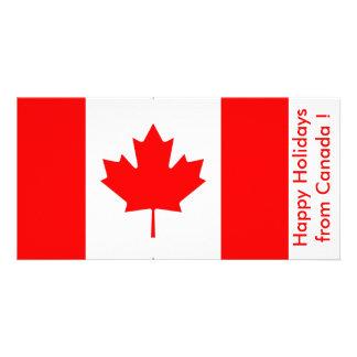 Bandeira de Canadá, boas festas de Canadá Cartão Com Foto