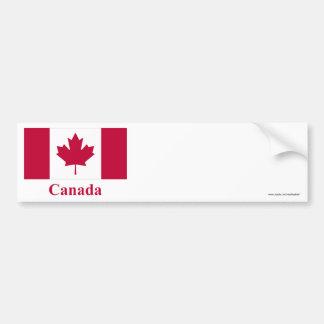 Bandeira de Canadá com nome Adesivo Para Carro