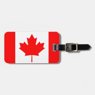 Bandeira de Canadá Etiqueta De Bagagem