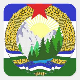 Bandeira de Cascadia socialista Adesivo Quadrado