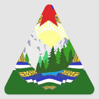 Bandeira de Cascadia socialista Adesivo Triangular