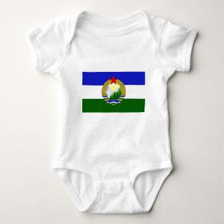 Bandeira de Cascadia socialista Body Para Bebê