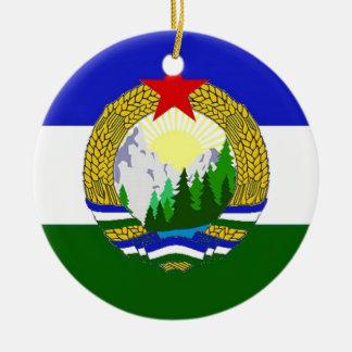 Bandeira de Cascadia socialista Ornamento De Cerâmica