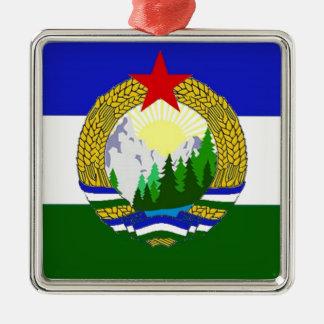 Bandeira de Cascadia socialista Ornamento De Metal