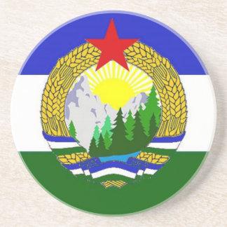 Bandeira de Cascadia socialista Porta-copos De Arenito