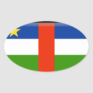 Bandeira de Central African Republic Adesivo Oval