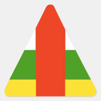 Bandeira de Central African Republic Adesivo Triângulo
