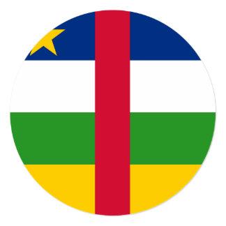 Bandeira de Central African Republic Convite Quadrado 13.35 X 13.35cm