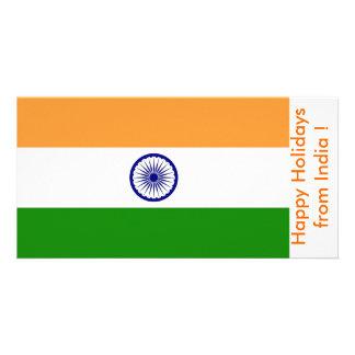 Bandeira de China boas festas de India Cartões Com Foto
