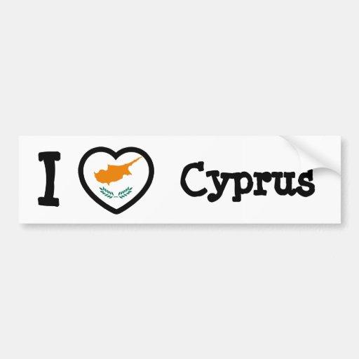 Bandeira de Chipre Adesivo