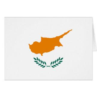 Bandeira de Chipre Cartão De Nota