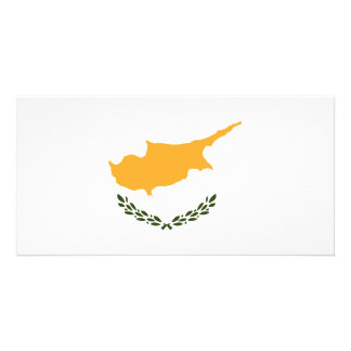 Bandeira de Chipre Cartão Com Foto