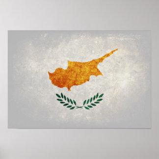 Bandeira de Chipre Poster
