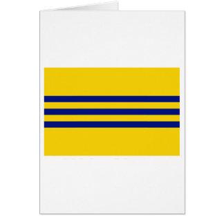 Bandeira de Cochinchina (1946-1948) Cartão Comemorativo