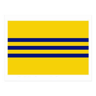 Bandeira de Cochinchina (1946-1948) Cartão Postal