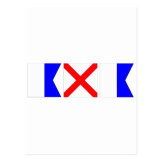 Bandeira de código Ava Cartão Postal