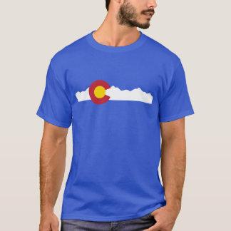 Bandeira de Colorado & camisa das montanhas