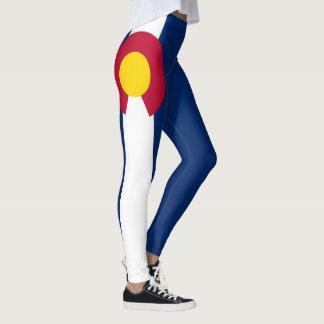 Bandeira de Colorado sangramento de um cheio de 90 Legging
