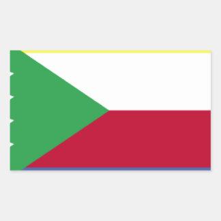 Bandeira de Cômoros Adesivo Retangular