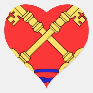 Bandeira de Comtat Venaissin (France) Adesivos Em Forma De Corações