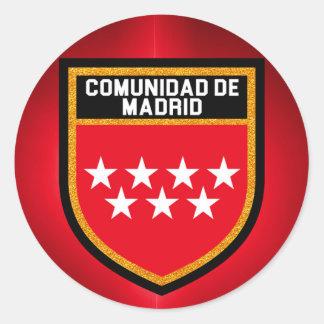 Bandeira de Comunidad de Madrid Adesivo