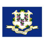 Bandeira de Connecticut Cartão Postal