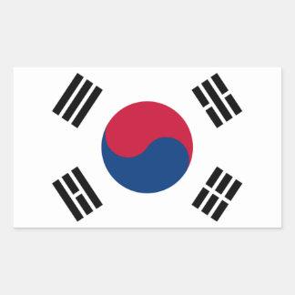 Bandeira de Coreia do Sul Adesivo Retangular