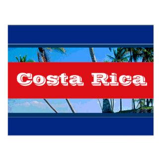 Bandeira de Costa Rica Cartão Postal