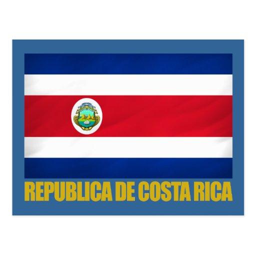 Bandeira de Costa Rica Cartao Postal