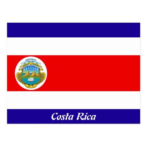 Bandeira de Costa Rica Cartões Postais