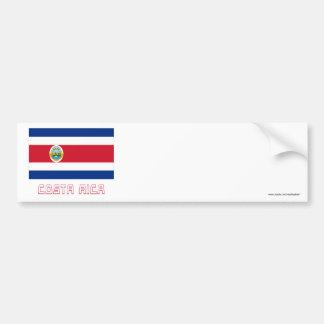 Bandeira de Costa Rica com nome Adesivo Para Carro