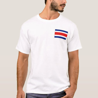 Bandeira de Costa Rica e t-shirt do mapa Camiseta