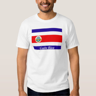 Bandeira de Costa Rica Tshirt