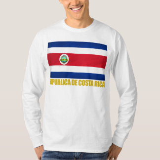 Bandeira de Costa Rica Tshirts
