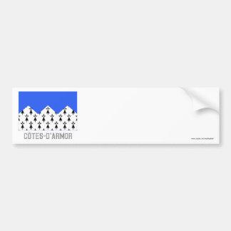 Bandeira de Côtes-d'Armor com nome Adesivo Para Carro