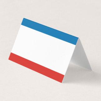 Bandeira de Crimeia Cartão