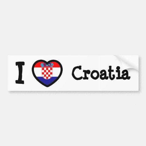Bandeira de Croatia Adesivos