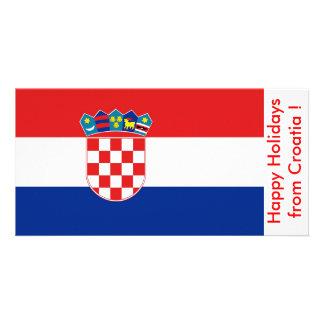 Bandeira de Croatia boas festas de Croatia Cartões Com Fotos