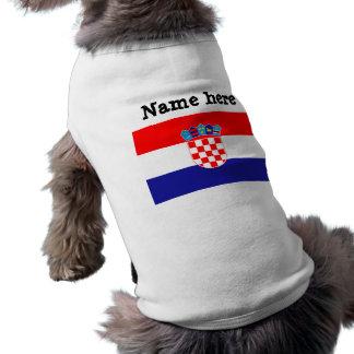 Bandeira de Croatia Camisetas Para Cães