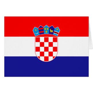 Bandeira de Croatia Cartão De Nota