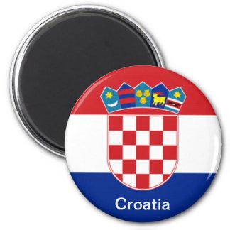 Bandeira de Croatia Ímã Redondo 5.08cm