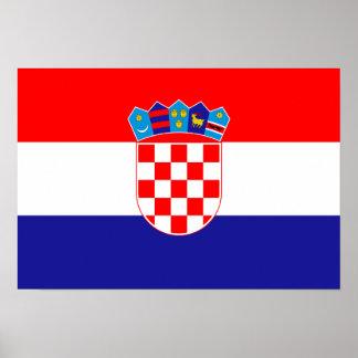 Bandeira de Croatia Poster
