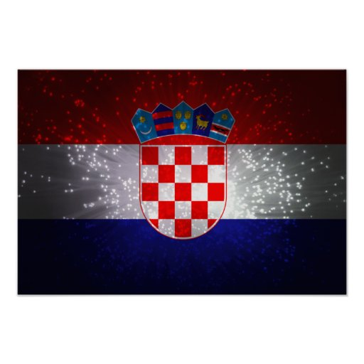 Bandeira de Croatia Impressão