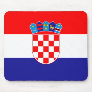 Bandeira de Croatia Mouse Pads