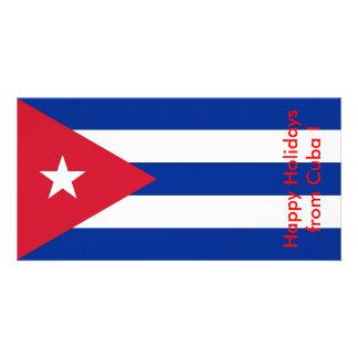 Bandeira de Cuba, boas festas de Cuba Cartão Com Foto