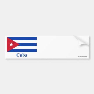 Bandeira de Cuba com nome Adesivo Para Carro
